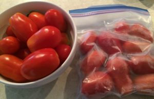 Fresh and Frozen Tomatoes