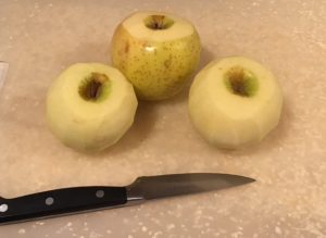 Prepping Apples