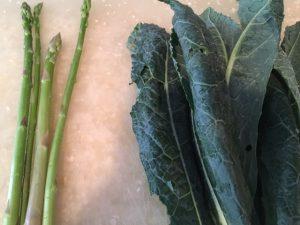 Asparagus and Italian Kale